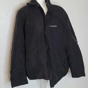 Columbia men's jacket XL coat fleece lining black